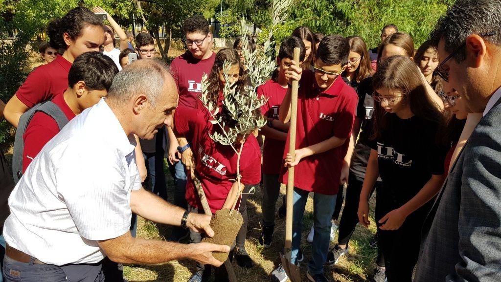2019  2020 Eğitim ve Öğretim Yılı Okul Açılış Töreni - Dönem Ağaçlarının Dikimi