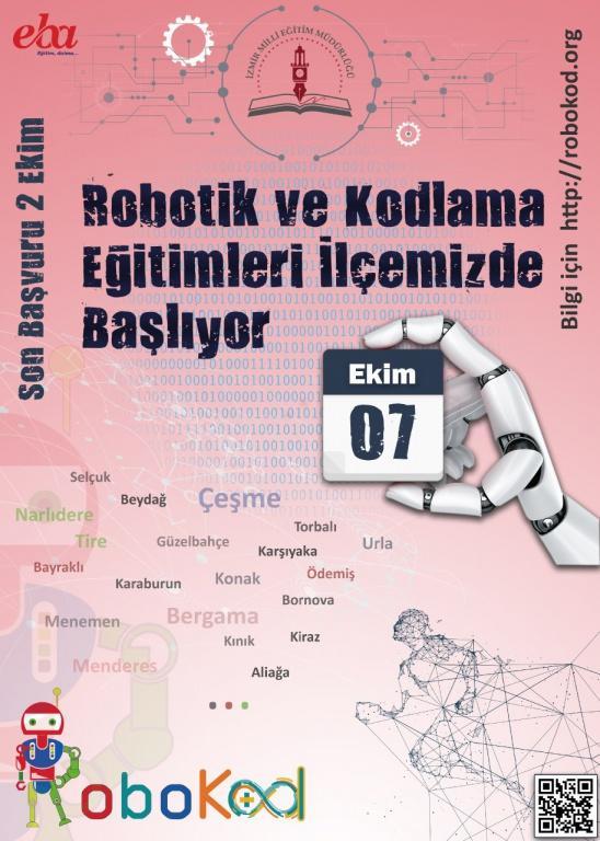 İzmir RoboKod Eğitimleri - Son Başvuru Tarihi 02 Ekim 2019