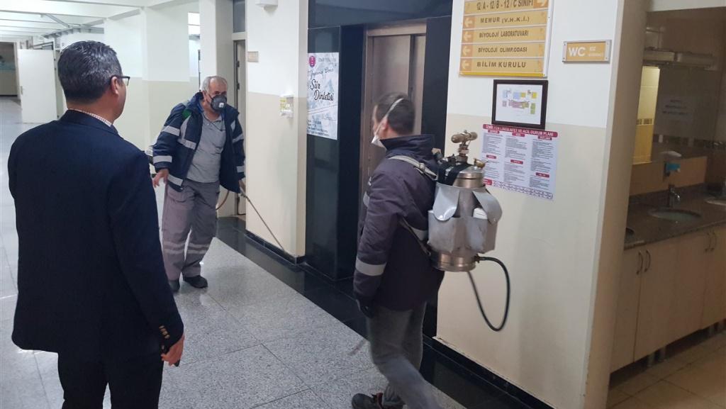 Okulumuzun Sanitasyonu ve Dezenfeksiyonu Tamamlandı