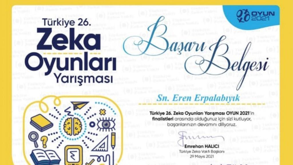 Eren Erpalabıyık Türkiye Finallerine Katıldı